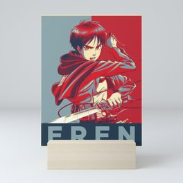 Eren Jaeger Propaganda | Shingeki No Kyojin | Attack on Titan Mini Art Print