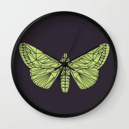 The envy of the moth - Geometric design Wall Clock
