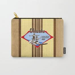 Tandem Surfing Hawaiian Surfboard and Pareau Designs Carry-All Pouch
