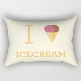 I heart Icecream Rectangular Pillow