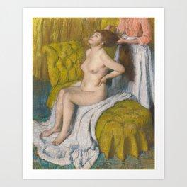Woman Having Her Hair Combed by Edgar Degas Art Print