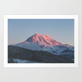 Sunset on Mount Rainier Art Print