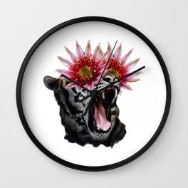 Shocked Tiger Wall Clock