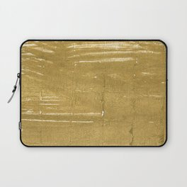 Aztec Gold abstract watercolor Laptop Sleeve