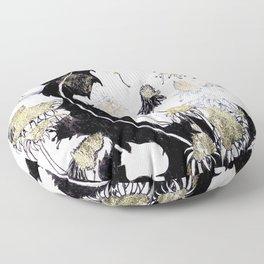Gold Dandelions Floor Pillow