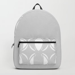 Abstract pattern - gray and white. Backpack