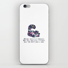 Alice floral designs - Cheshire cat entirely bonkers iPhone Skin