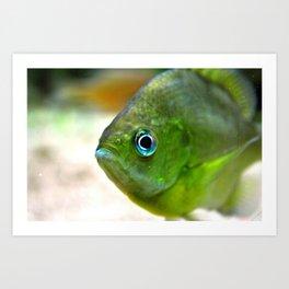 little green guy Art Print
