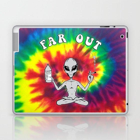 Far Out Alien (Tie Dye) Laptop & iPad Skin