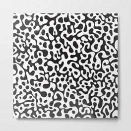 Modern abstract black white animal print Metal Print