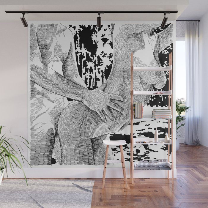 Lets Dance Wall Mural by suzieqillustratrice Society6