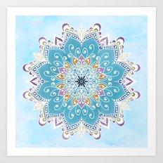 MAGIC FLOWER MANDALA Art Print