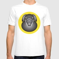 Elephant SMALL White Mens Fitted Tee