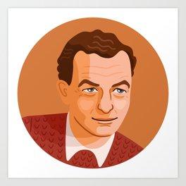 Queer Portrait - Benjamin Britten Art Print