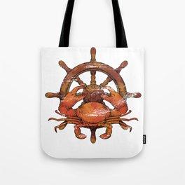 Crab Steer Ship Tote Bag
