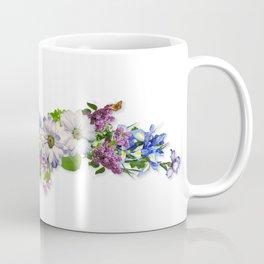 Upper Peninsula Flowers Outline Coffee Mug