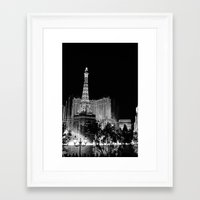 las vegas Framed Art Prints featuring Las Vegas by Sara Ess