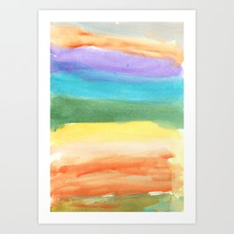 water color abstract painting_7 Art Print
