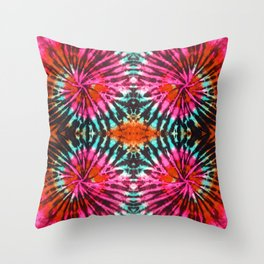 Tie Dye in Bright Colors. Let's revive the 70'. Bohemian Tie Dye Design Throw Pillow