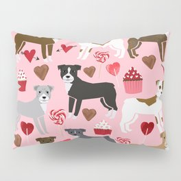 Pitbull valentine dog love rescue dogs valentines day hearts cupcakes dog gifts Pillow Sham