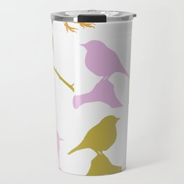 Assorted colourful birds Travel Mug