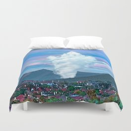 Cold Winter Morning Spectre Over Phoenix Duvet Cover