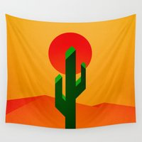 desert Wall Tapestries featuring Desert by Bakus