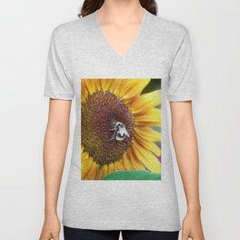 Bee_Flower_Nectar collecting Unisex V-Neck