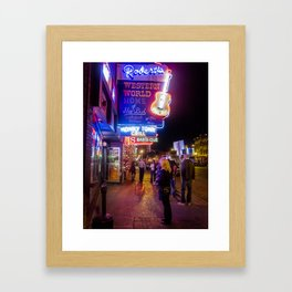 Roberts Western World- Nashville, TN. Framed Art Print