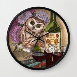 The Tipsy Owl Wall Clock