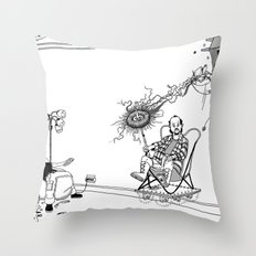 Tesla Throw Pillow