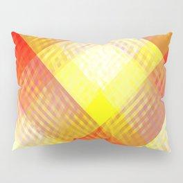 Red Squares Pattern Pillow Sham