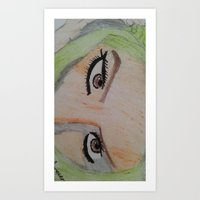 arabic eyes Art Print