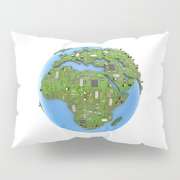 Data Earth Pillow Sham