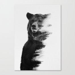 Observing Bear Canvas Print