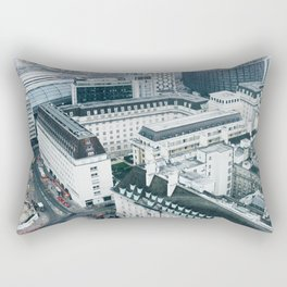 View of London Streets from the London Eye Rectangular Pillow