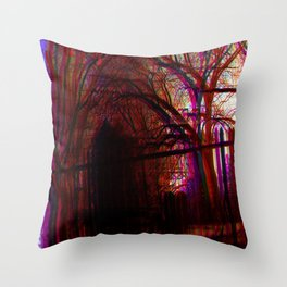 gravewave Throw Pillow