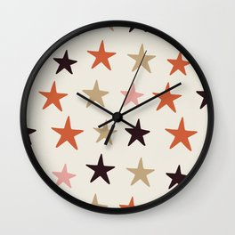 Star Pattern Color Wall Clock