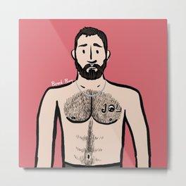 Beard Boy: Hugo Metal Print