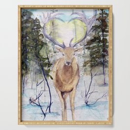 Winter Deer Serving Tray