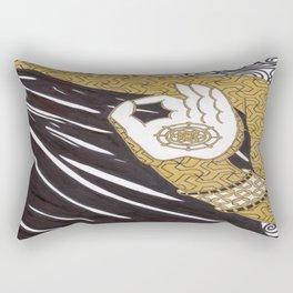 Dharma Wheel Buddhist Rectangular Pillow