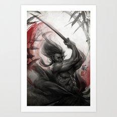 Samurai Spirit - Aura Art Print