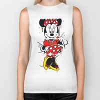 minnie Biker Tanks featuring Minnie Mashed by Dave Seedhouse.com