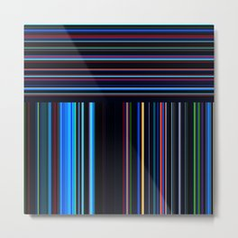 Re-Created Lines & Stripes 8 by Robert S. Lee Metal Print