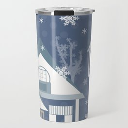 """A series of """"Covers for notebooks"""" . Winter . Christmas holidays . Travel Mug"""