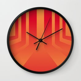 Streets on fire Wall Clock