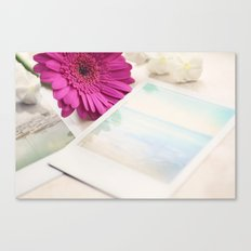 Gerbera, Phlox and Polaroids Canvas Print