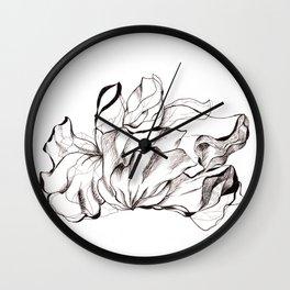 leaves Wall Clock