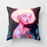 venus Throw Pillows featuring Venus by Joifish