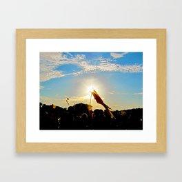 Sunlit Festivals  Framed Art Print